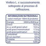 Topazio Olio di Semi di Vinacciolo Etichetta