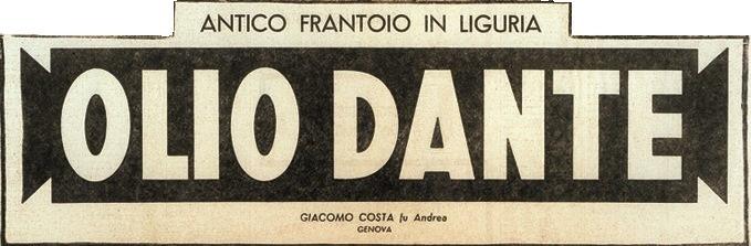 Antico Logo Olio Dante