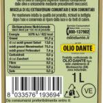 Retro Etichetta Olio Dante Mediterraneo