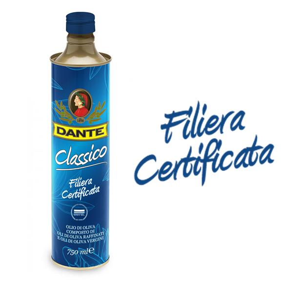 """Olio Dante lancia sul mercato l'Olio di Oliva """"Filiera Certificata"""""""