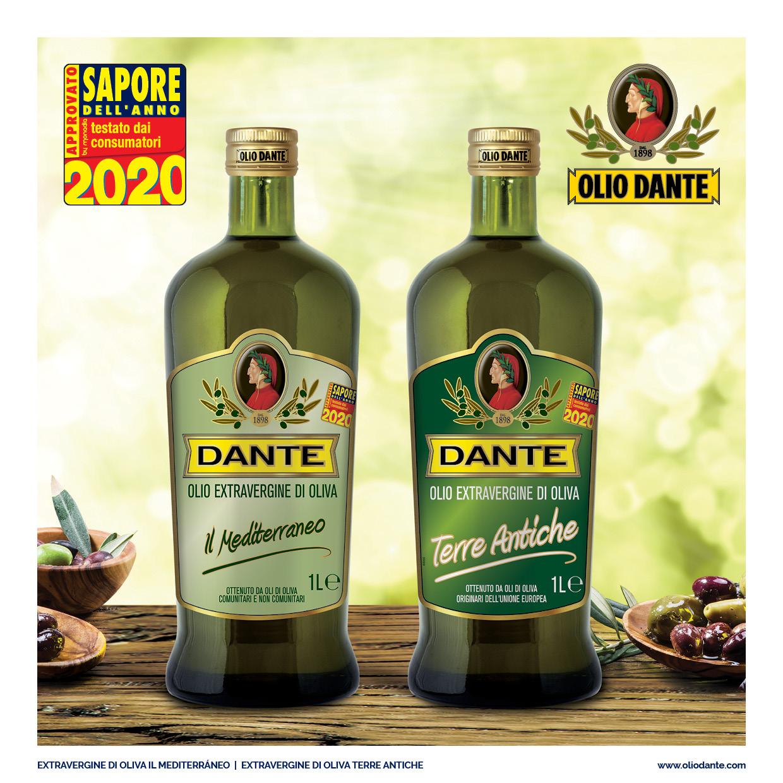 """Olio Dante eletto """"Sapore dell'Anno 2020"""""""