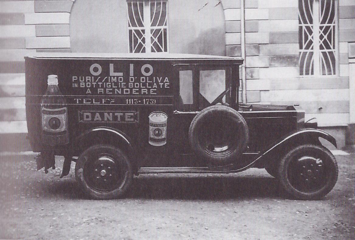 Camioncino Aziendale Anni 30 Olio Dante