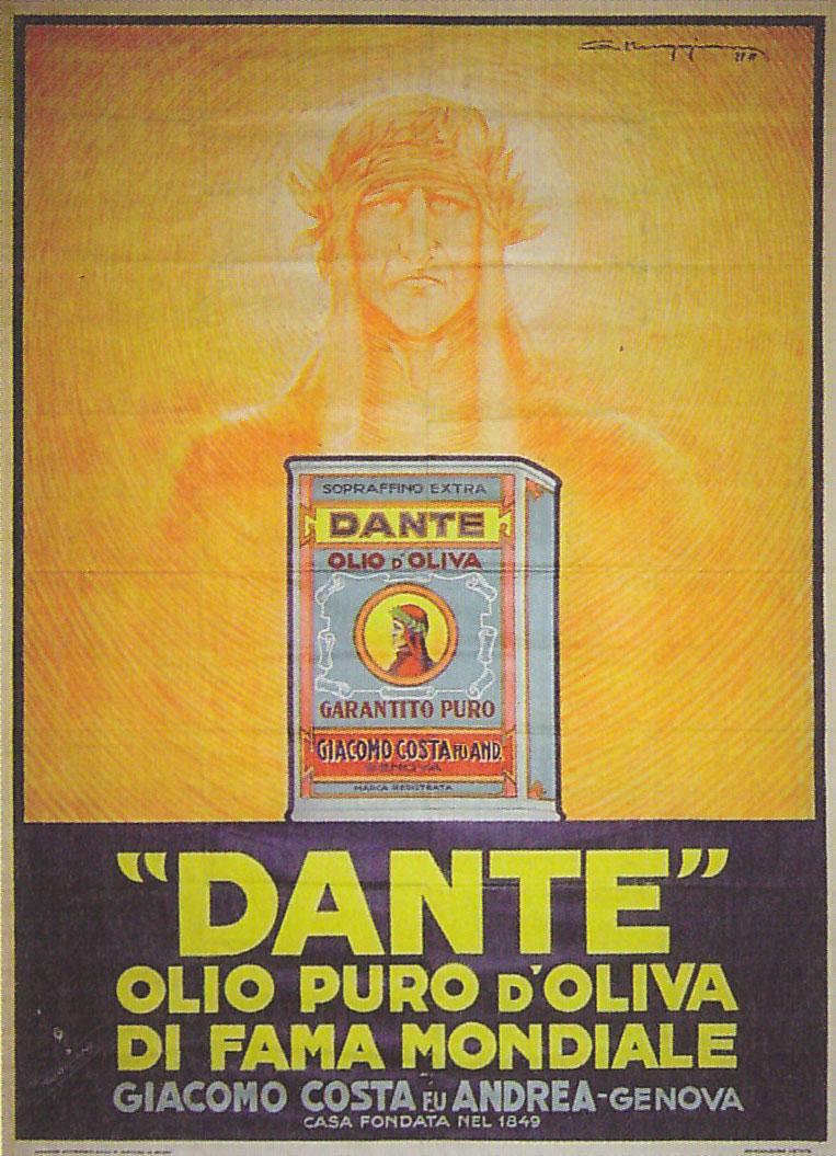 Olio Dante in Lattina da Esportazione 1928