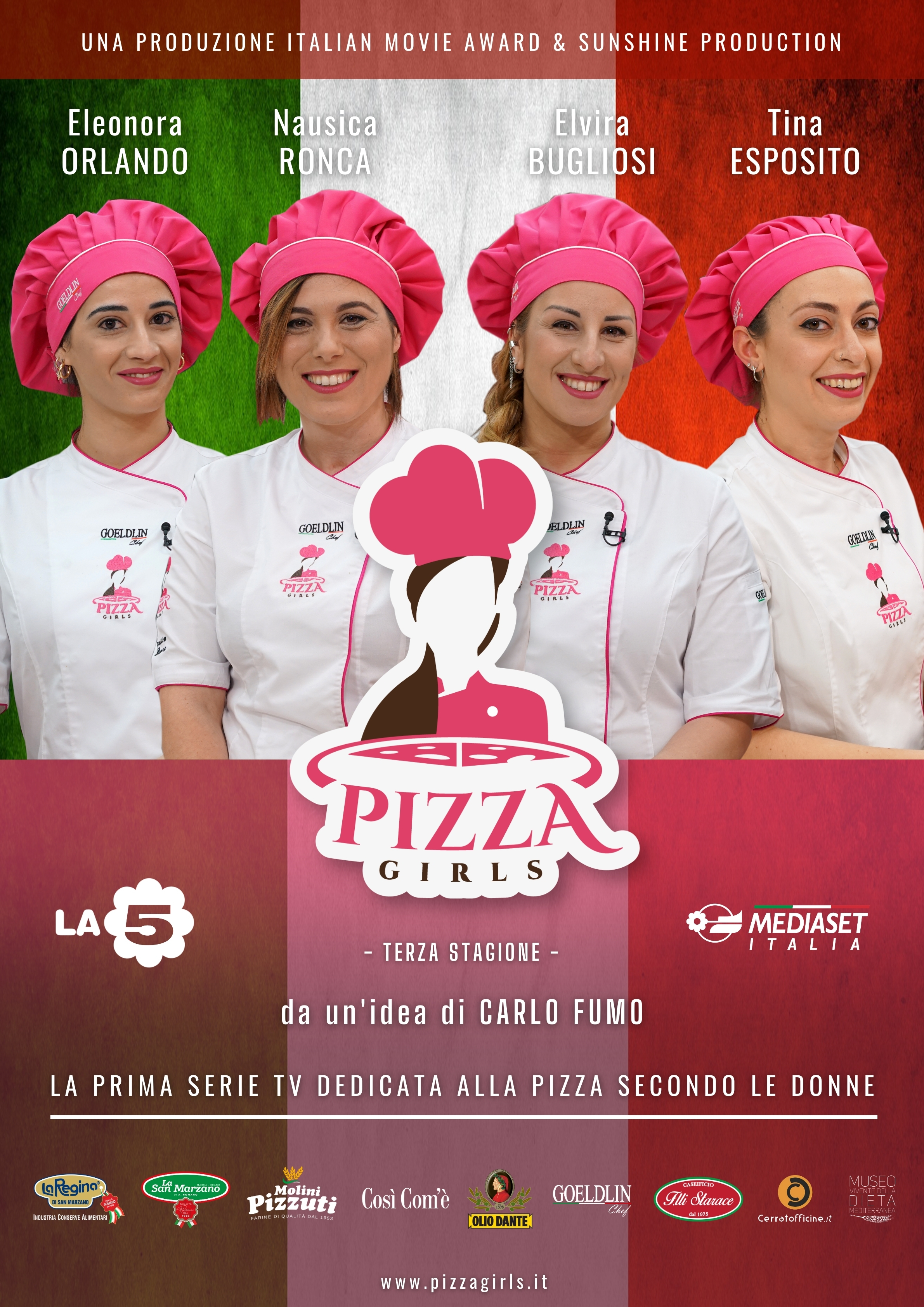 OLIO DANTE AND PIZZAGIRLS, THE SPONSORSHIP CONTINUES FOR THE THIRD SEASON ON LA5 AND MEDIASET ITALIA